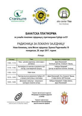 07 Novi Knezevac (20.03.2017) – Agenda
