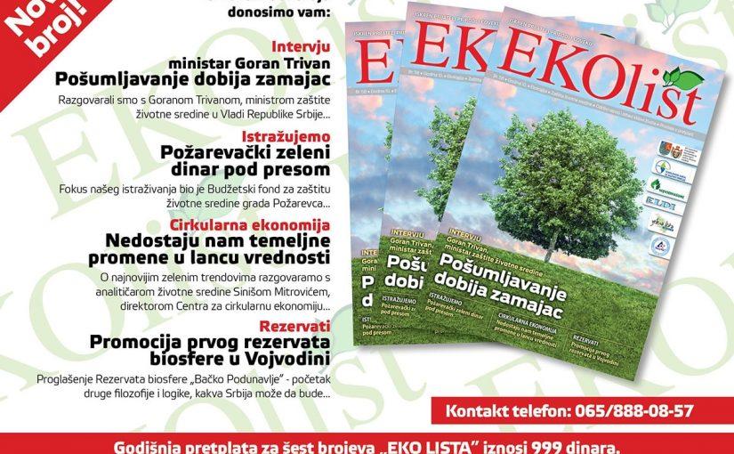 ЕКОЛИСТ – Пожаревачки зелени динар под пресом