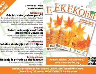 Eko List 65-Uzice-naslovna